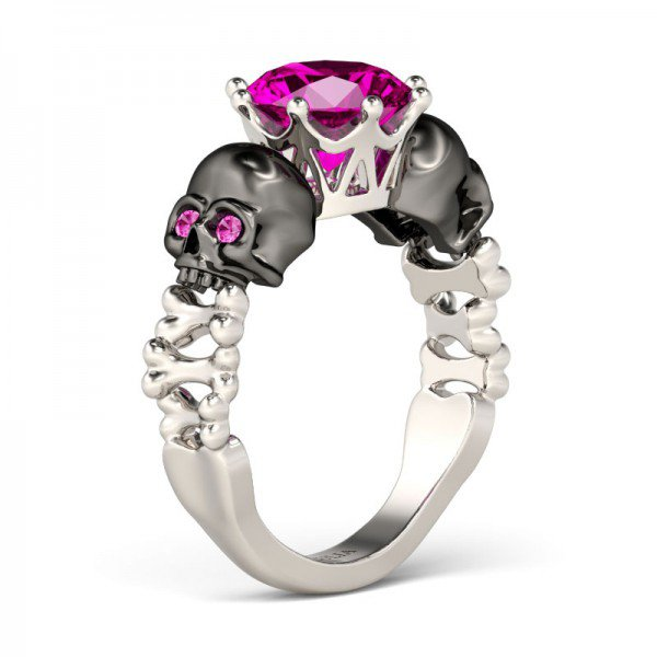 skull wedding rings - Skull Wedding Rings