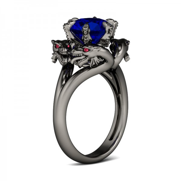 Dragon wedding ring