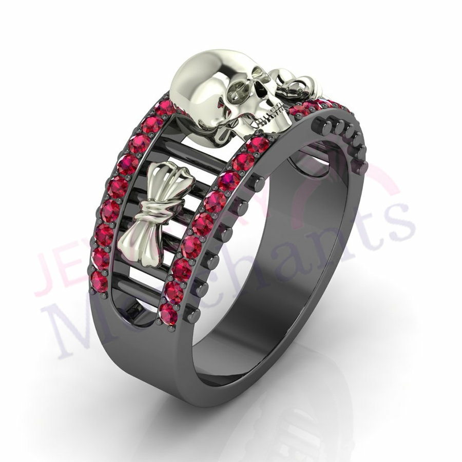 Gothic Wedding Rings.Skull Wedding Rings Gothic Wedding Rings